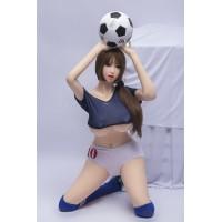 SINLOLI Bonnie Pure Long Legged Football Baby Sex Doll Ultra Realistic Silicone Doll - 165cm