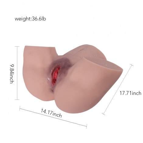Sinloli New Dual-Channel Sex Doll,Realistic Vaginal, Male Masturbating,Silicone Sex Doll