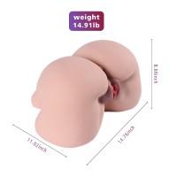 SINLOLI Life Size Virgin Pussy Ass Doll, 3D Realistic Male Masturbator Ass Vagina Anal Sex Toys