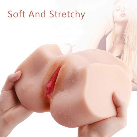 Life Size Virgin Pussy Ass Doll,SINLOLI 3D Realistic Male Masturbator Ass Vagina Anal Sex Toys for Male Masturbation(5.3 LB)