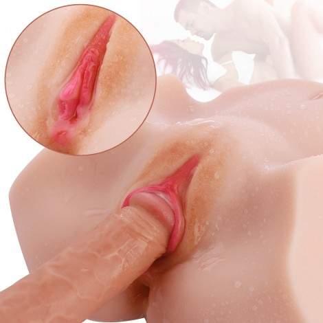 Life Size Virgin Pussy Ass Doll,SINLOLI 3D Realistic Male Masturbator Ass Vagina Anal Sex Toys for Male Masturbation(5.3 LB)