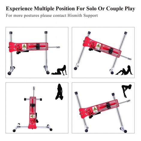 Hismith Premium Sex Machine Colorful Series, Gold/ Purple/ Red/ Blue