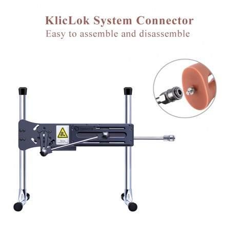 Hismith Lifelike Realistic Double Penetrator Vac-U-Lock Dildo 8 Inch