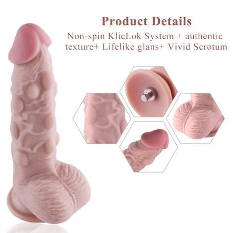 Hismith Bumps Silicone Dildo G-Spot Stimulate Cock for Premium Sex Machine