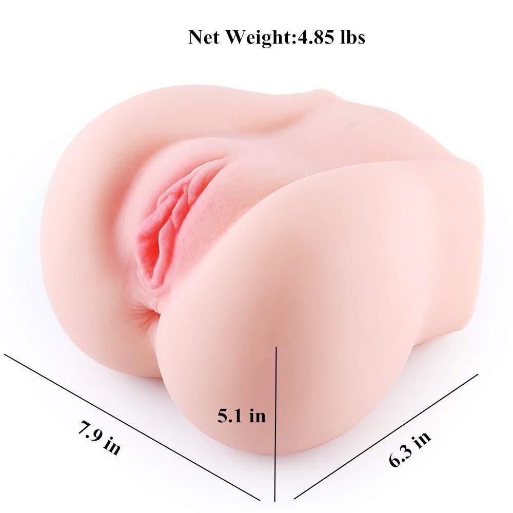 SINLOLI Life Size Pussy Anal Ass Doll, 3D Realistic Male Masturbator for Male Masturbation (4.85 Pounds)