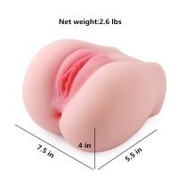 SINLOLI Pussy Anal Ass Doll, 3D Realistic Male Masturbator Vagina Anus Butt Sex Toys for Male Masturbation (2.6 Pounds)