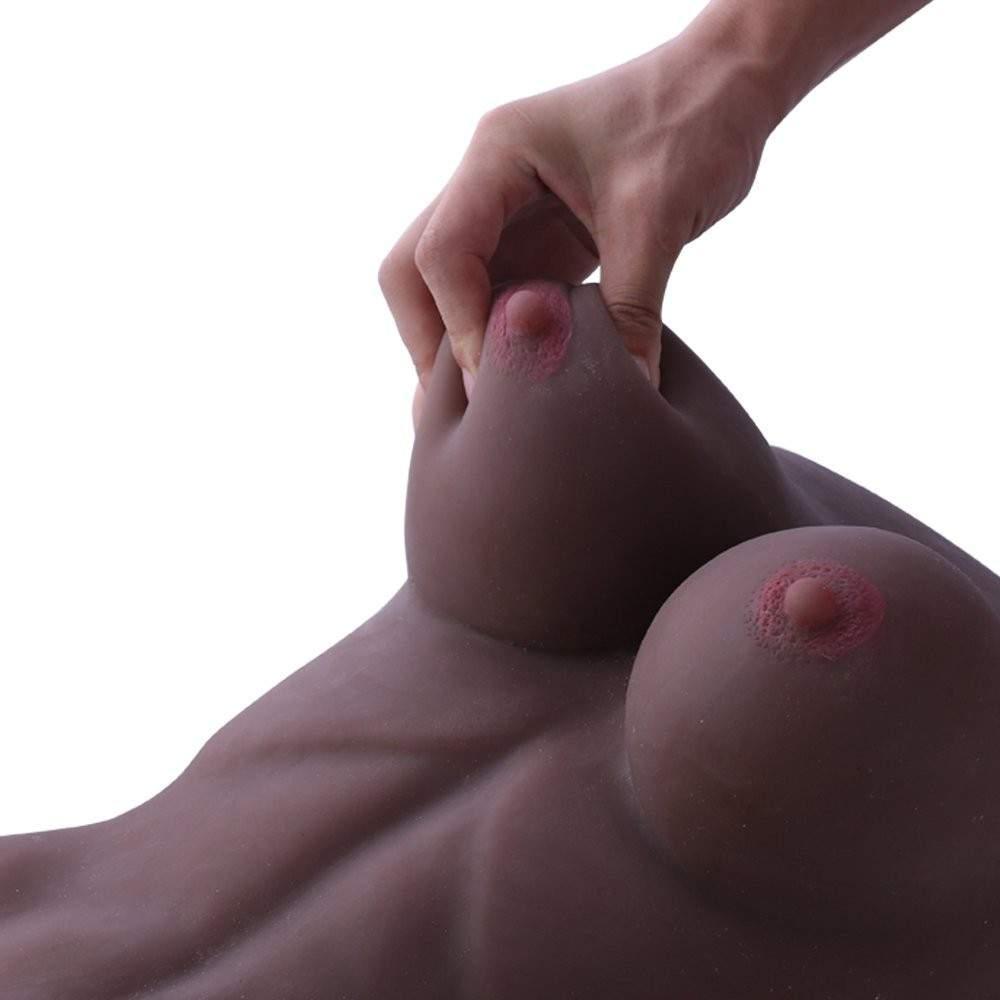 SINLOLI Love Doll Sex Doll Torso,Premium Sex Toys for Men Women and Couples (Black)