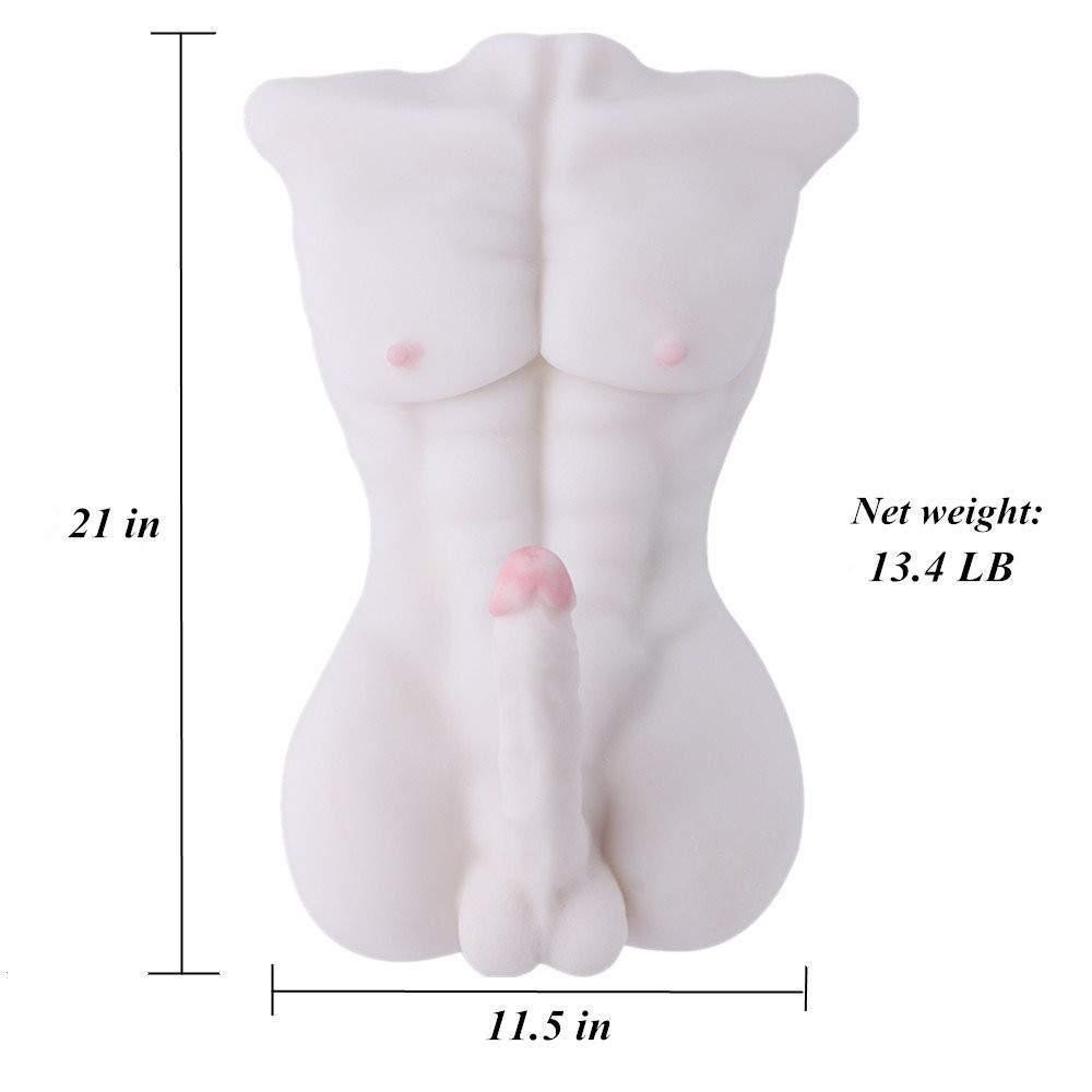SINLOLI Love Doll Sex Doll Torso,Premium Sex Toys (Black male doll)