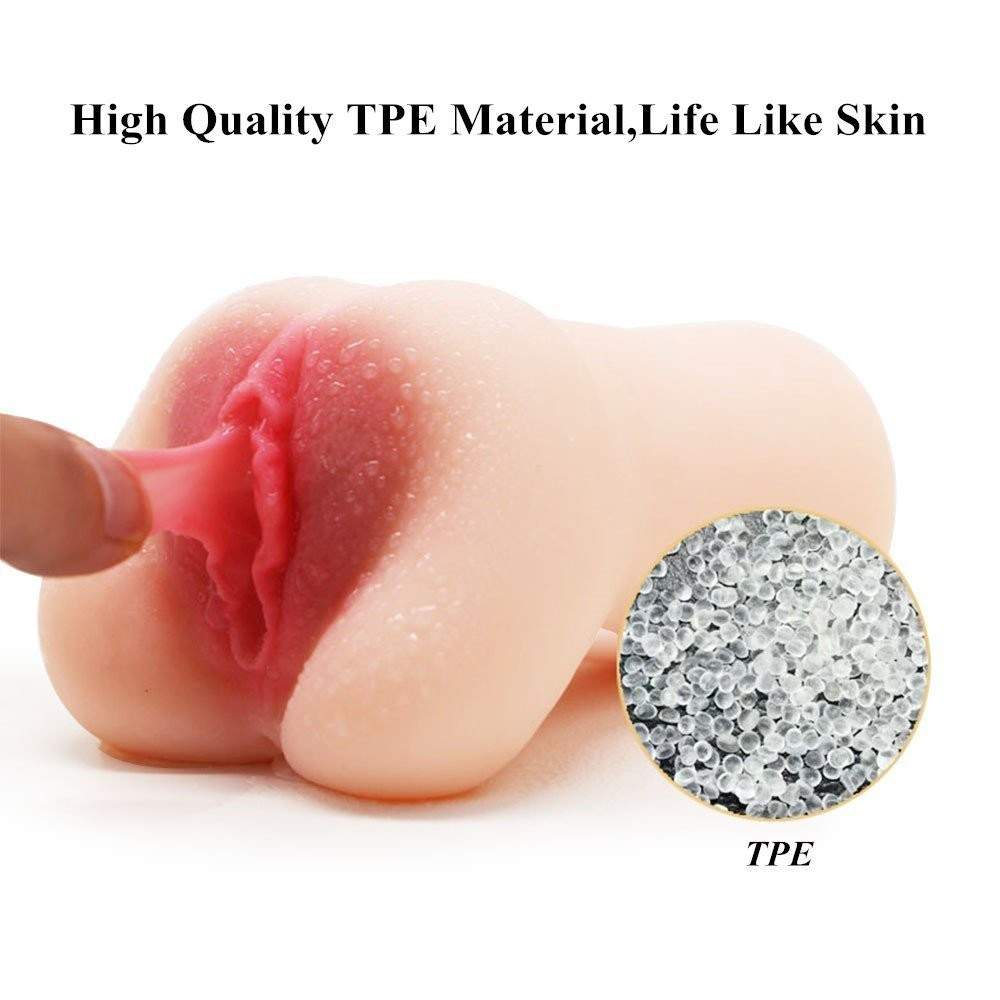 Male Masturbator with Storage Bag,SINLOLI Realistic Vagina Pocket Pussy for Male Masturbation (Realistic)